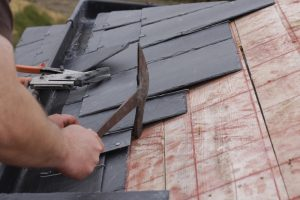 why a slate roof - roofer made a roof with slates